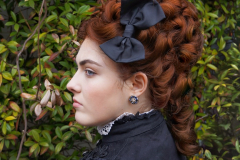 Late Victorian wig and makeup