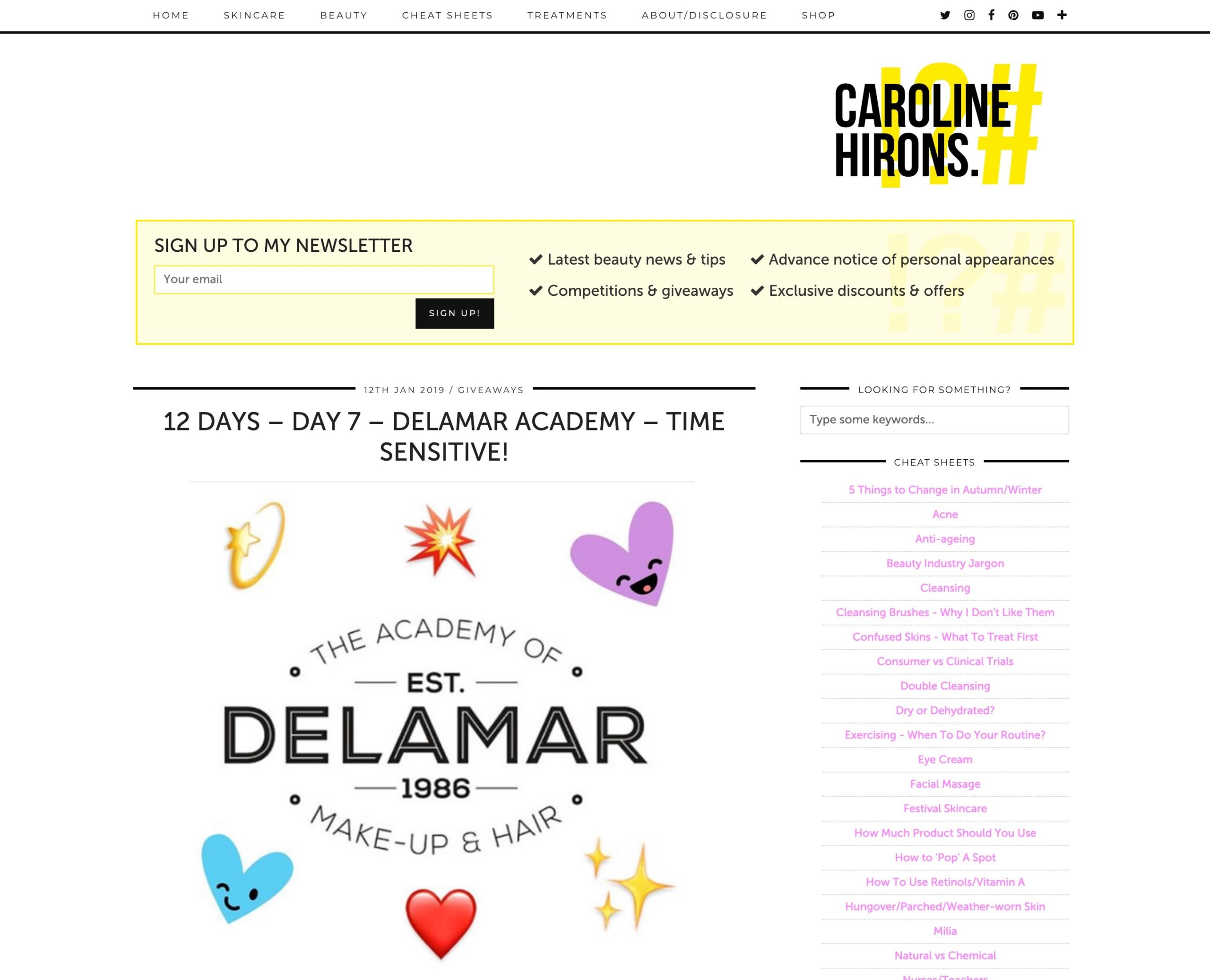 Caroline Hirons gives away a course at Delamar Academy